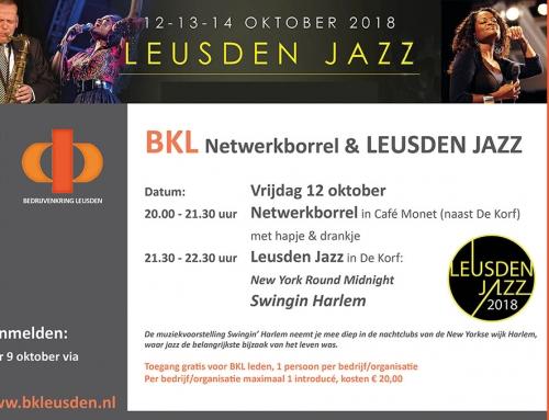12 oktober BKL Netwerkborrel & Leusden Jazz