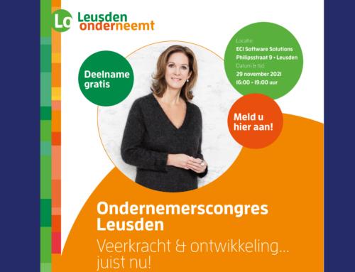 Ondernemerscongres Leusden 'Veerkracht & Ontwikkeling. Juist nu!'